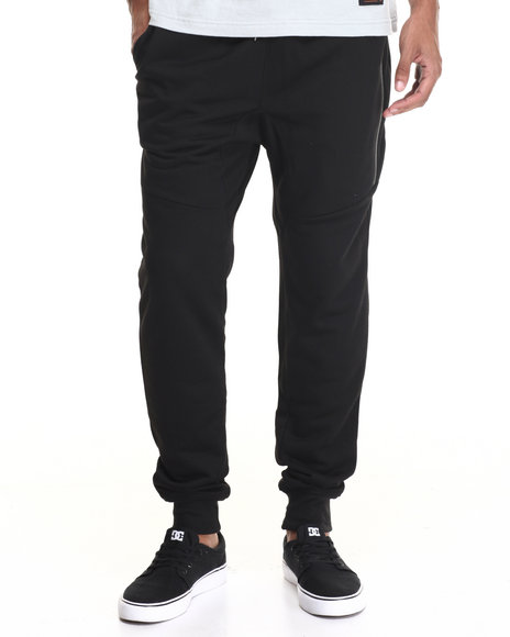 Rolling Paper - Men Black Tech Jogger