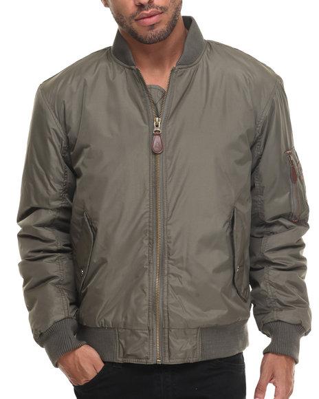Basic Essentials - Men Olive Aviator Flight Jacket - $48.00