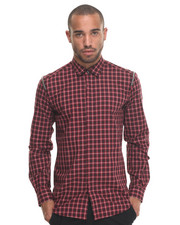 Shirts - Plaid SHIRT W ZIP SHOULDERS