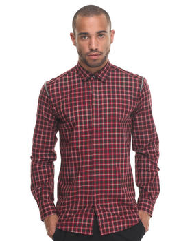 Button-downs - Plaid SHIRT W ZIP SHOULDERS