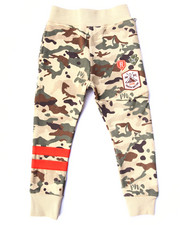 Boys - CAMO FLEECE JOGGERS (4-7)