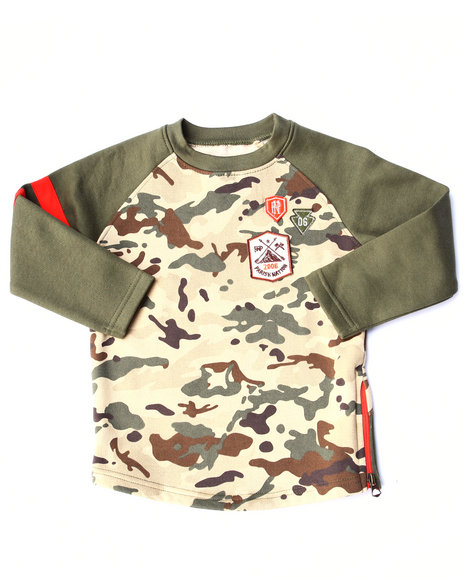 Parish - Boys Camo Camo Raglan Sweatshirt (2T-4T)
