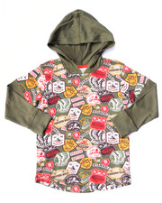 Hoodies - PATCH PRINT HOODY (2T-4T)