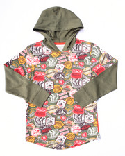 Hoodies - PATCH PRINT HOODED L/S TEE (4-7)