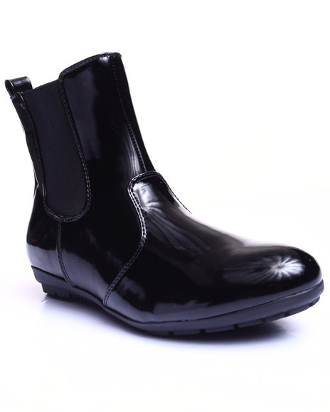 Fashion Lab - Women Black Bumble Short Rain Boot