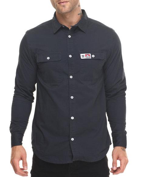 Dc Shoes Men Dc X Ben Davis Twill Shirt Navy Large