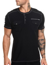 Buyers Picks - Moto Slub Henley w Zip Detail