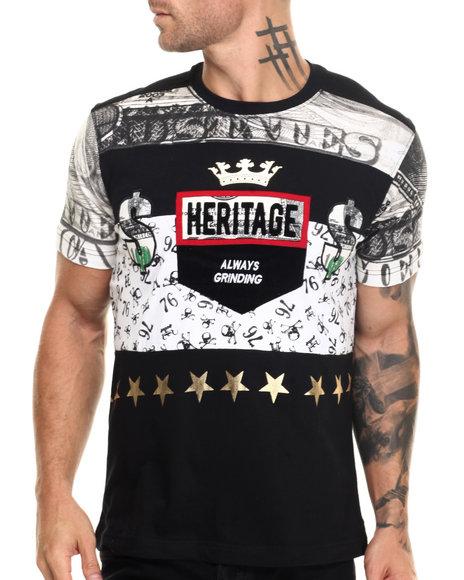 Heritage America - Men Black Heritage Money T-Shirt - $38.00