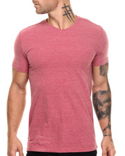 Black Friday Shop - Men - Classic Slub V-Neck - Red
