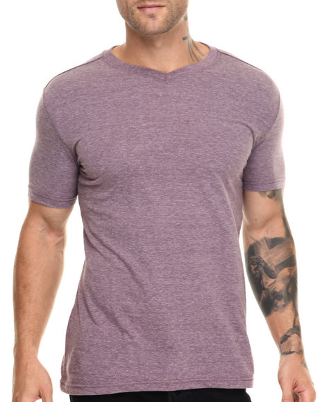 Buyers Picks - Men Maroon,Maroon Classic Slub V-Neck - Wine