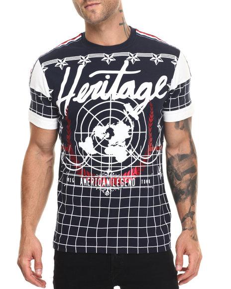 Heritage America - Men Navy Hertiage T-Shirt