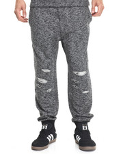 Jeans & Pants - Moto Loop slashed jogger pant