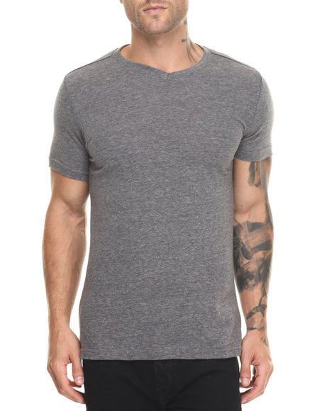 Buyers Picks - Men Black / Smoke,Black / Smoke Classic Slub V-Neck - Black