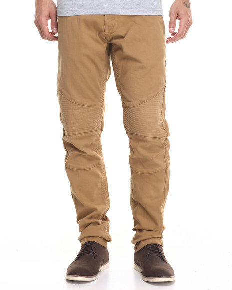 Buyers Picks - Men Wheat Slub Twill Biker - Style Pants