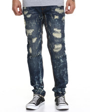 Heritage America - Distressed Washed Denim Jeans