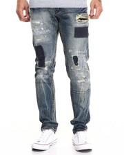 Heritage America - Distressed Patch Denim Jeans