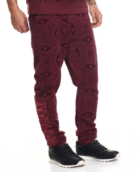 Born Fly - Men Maroon Duffy Joggers