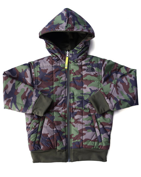 The North Face - Boys Camo Reversible Quilted Surgent Hoodie( 5-20)