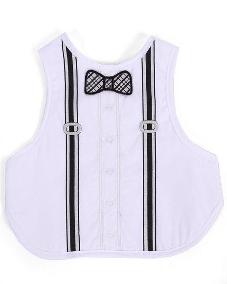 Drj Baby Heaven Shop Boys Suspenders Fancy Bib (One Size) White