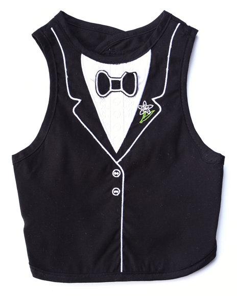Drj Baby Heaven Shop Boys Tuxedo Fancy Bib (One Size) Black