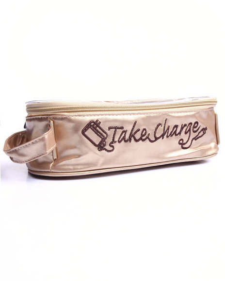 Drj Accessories Shoppe Women Take Charge Charger/Electronics Organizer Gold Large - $6.99