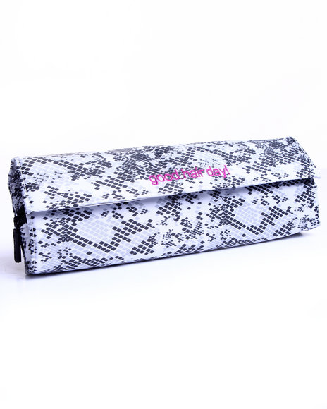 Drj Accessories Shoppe Women 2 Pc Flat Iron/Heat Mat Case Animal Print