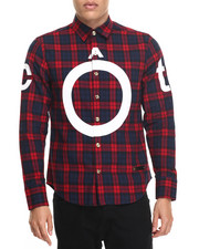 Button-downs - Plaid Extended Bottom L/S Button-Down