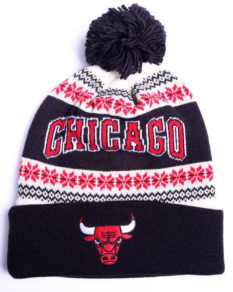 Adidas Men Chicago Bulls Flake Cuffed Knit Hat Red 1SZ