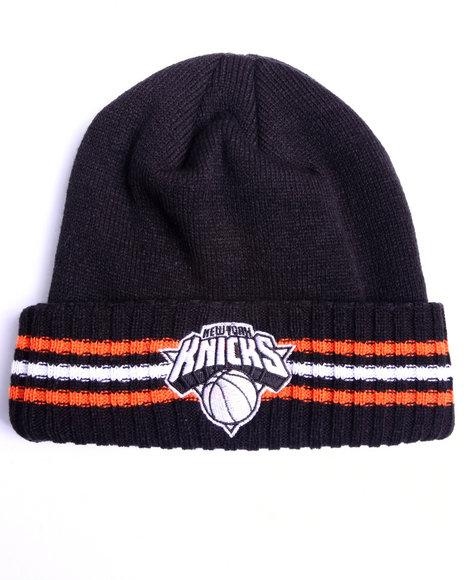 Adidas Men New York Knicks Triple Stripe Cuffed Knit Hat Black 1SZ