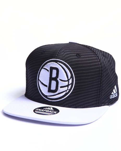 Adidas Men Brooklyn Nets Energy Stripe Snapback Hat Black - $24.99