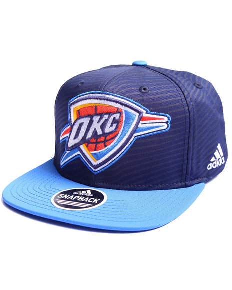 Adidas Men Oklahoma Thunder Energy Stripe Snapback Hat Blue