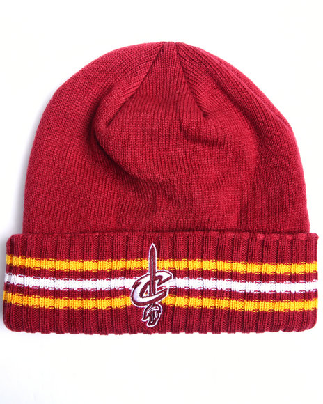 Adidas Men Cleveland Cavaliers Triple Stripe Cuffed Knit Hat Maroon