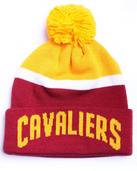 Adidas Men Cleveland Cavaliers Logo Cuffed Knit Pom Hat Maroon 1SZ