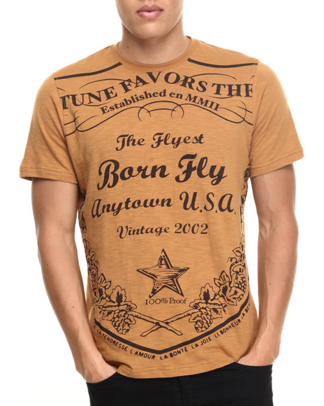 Born Fly - Men Tan Robinson S/S Tee - $31.99