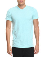 Black Friday Shop - Men - Classic Slub V-Neck - Aqua