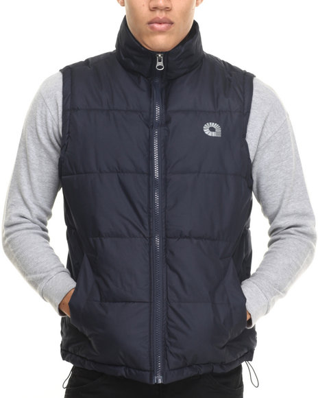 Akademiks - Men Navy Outback Padded Bubble Vest