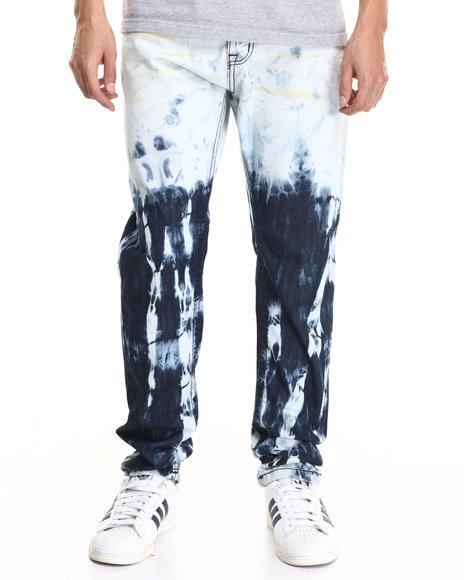 Buyers Picks - Men Acid Wash,Dark Wash Destroy Ice Modern Slim Fashion Jeans