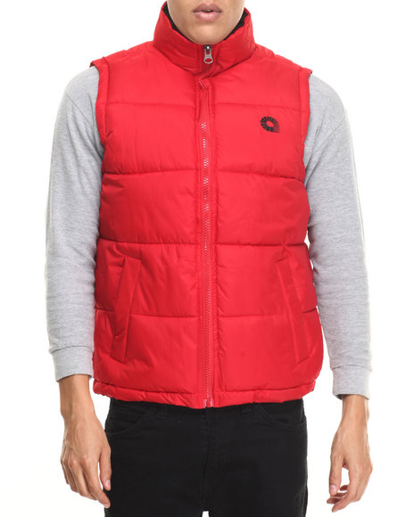 Akademiks - Men Red Outback Padded Bubble Vest