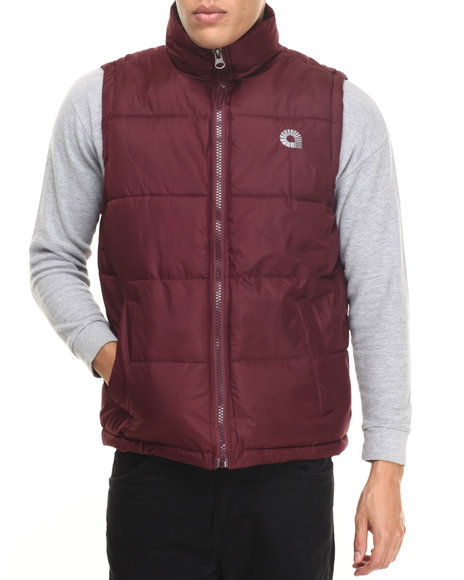 Akademiks - Men Maroon Outback Padded Bubble Vest