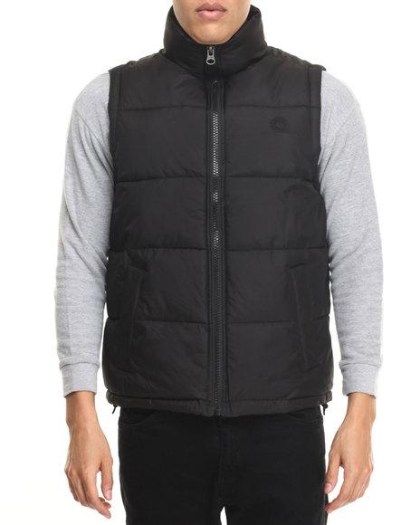 Akademiks - Men Black Outback Padded Bubble Vest