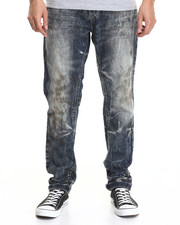 Black Friday Shop - Men - Aged Dark Modern Slim Fashion Jeans