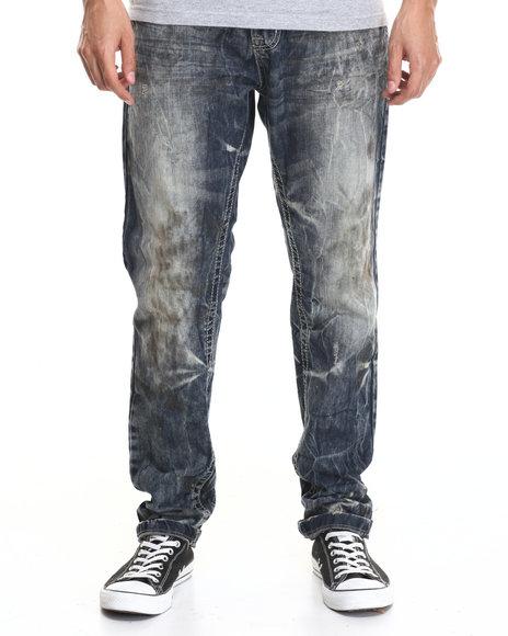 Buyers Picks - Men Dark Wash Aged Dark Modern Slim Fashion Jeans - $46.99