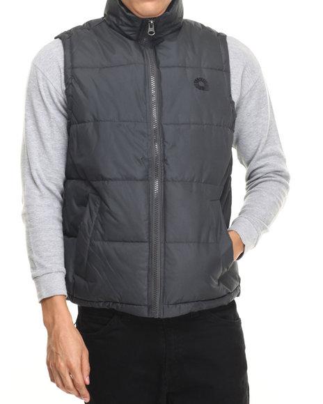 Akademiks - Men Grey Outback Padded Bubble Vest