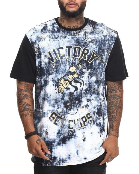 Akademiks Men Victory T-Shirt (B&T) Black 3X-Large