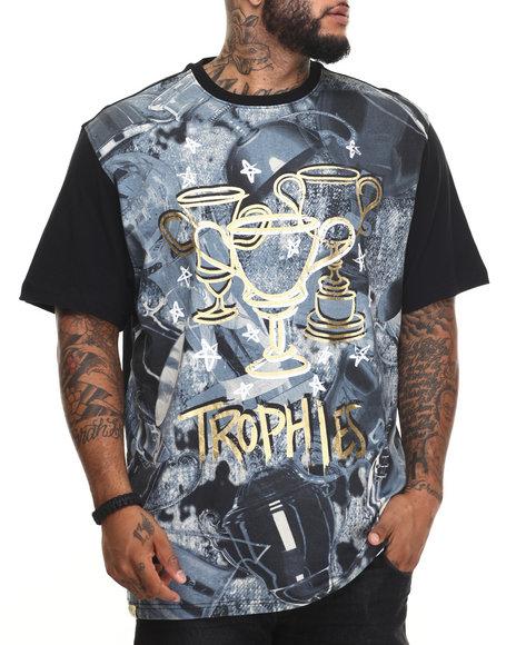 Akademiks - Men Black Trophies T-Shirt (B&T) - $35.00