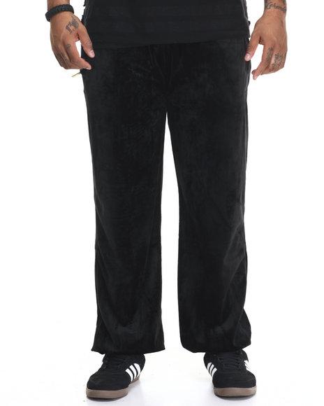Akademiks Men Veezy Velour Sweatpants (B&T) Black 5X-Large