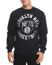 Mitchell & Ness - Brooklyn Nets Silver Metallic Crew Sweatshirt (Tailored Fit)