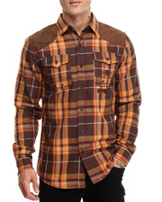 Button-downs - L/S Plaid Button-Down