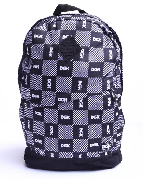 Dgk Men Checkers Angle Deluxe Backpack Black - $24.99