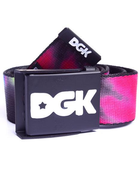 Dgk Men Tie Dye Scout Belt Multi